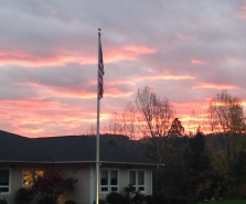 Phoenix Charter School campus at sunset. Roseburg, OR