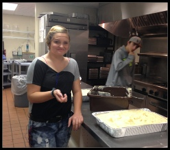 Phoenix Culinary Arts students working in the school kitchen. Roseburg, OR