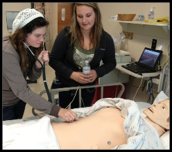 Phoenix Health Technology program students touring a hospital. Roseburg, OR